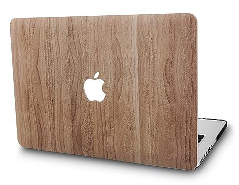 KECC MacBook Air 13 Pulgadas Funda Dura Case Cover MacBook Air 13.3 Ultra Delgado Plástico {A1466/A1369} (Madera de Pino 2)