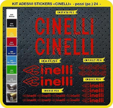 Cinelli Crest BLANC Vintage Cyclisme V/élo Stickers Autocollant