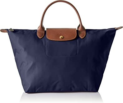 Longchamp Le Pliage Top Handle Bag Medium Navy One Size