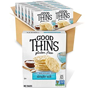 Good Thins Simply Salt Rice Snacks Gluten Free Crackers, 12 - 3.5 oz Boxes