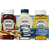 Heinz Ketchup Mayonnaise and Mustard Variety Pack, 3 Count