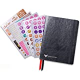 Law of Attraction Life Planner - Academic planner to Increase Productivity & Happiness - Weekly Planner, Organizer & Gratitude Journal (July Dated, Classic Black) + BONUS Planner Stickers