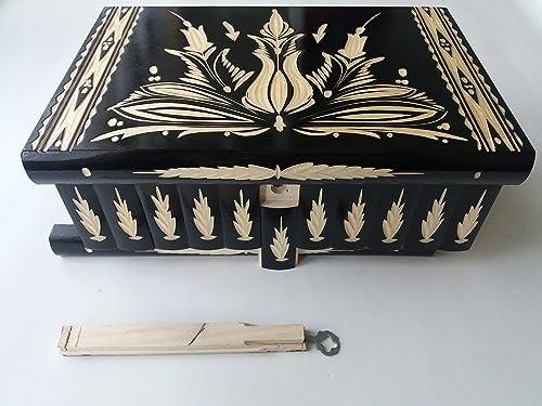 Caja de madera negro más grande del rompecabezas gigante, caja ...