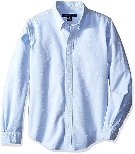 64b73b360859 Brooks Brothers Boys' Little Printed Snowflake Sportshirt, Snwflkprnt xs