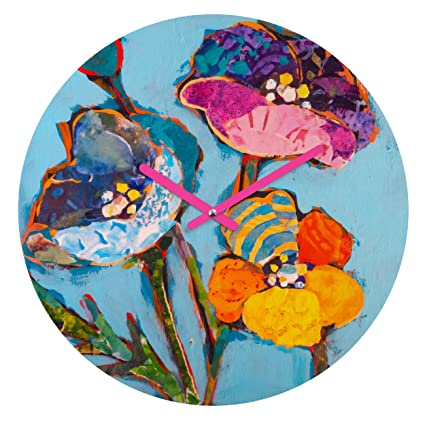 Deny Designs Elizabeth St Hilaire Nelson Violet Tulip 12-inch Round Clock