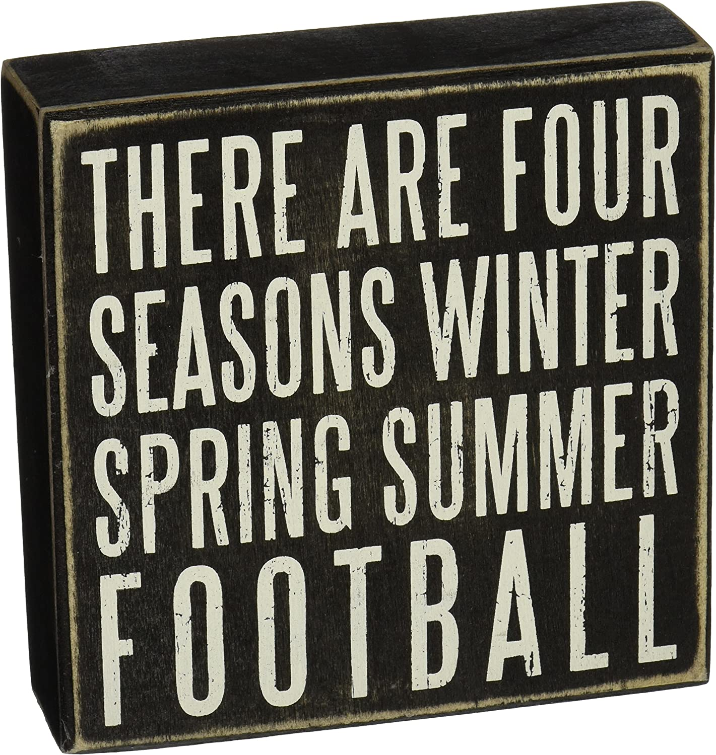 Primitives by Kathy Rustic Décor Box Sign, Football