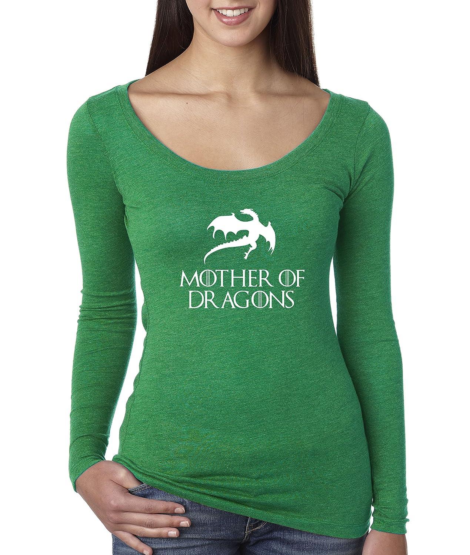 Envy Trendy USA 691  Women's Long Sleeve TShirt Mother of Dragons Game of Thrones Targaryen