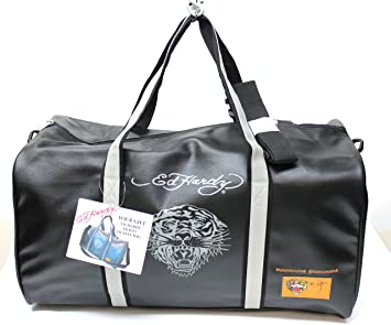 42144c504aeb Ed Hardy travel duffle bag black  Amazon.co.uk  Garden   Outdoors