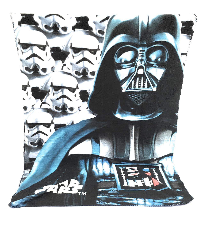 Couverture Polaire - Plaid polaire Enfant - 140x100 cm - sublimation double face - 170 gr/m2 - Starwars - Disney - Star wars - Dark Vador