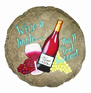 spoontiques wine stepping stone - Decorative Stepping Stones