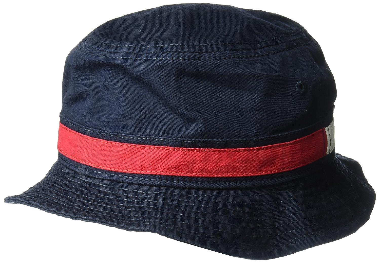 d26e47b8 Tommy Hilfiger Men's Dad Hat Flag Bucket Cap, Navy Blazer Small-Medium at  Amazon Men's Clothing store: