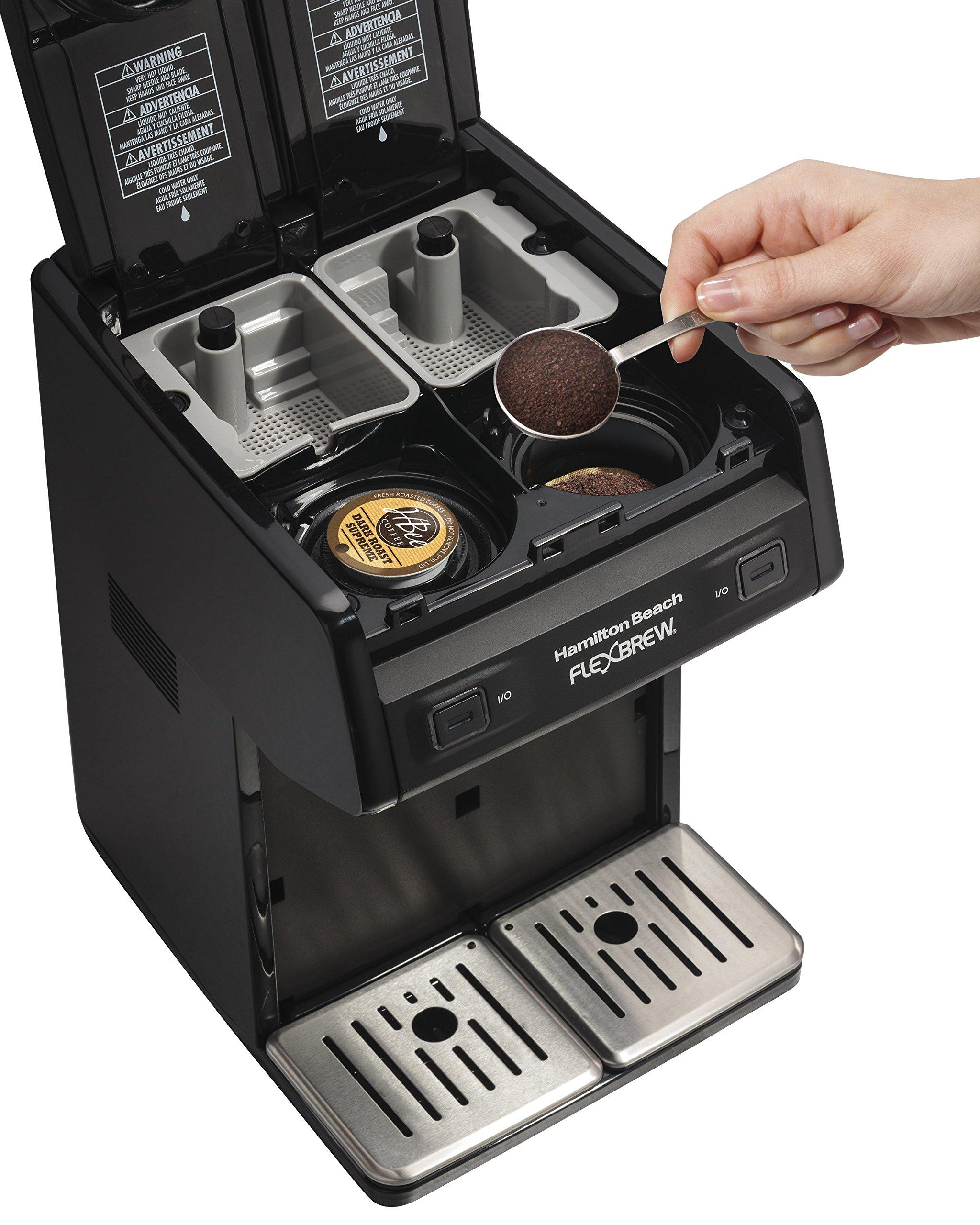Hamilton Beach 49998 FlexBrew Dual Single Serve Coffee Maker, Black by Hamilton Beach (Image #4)