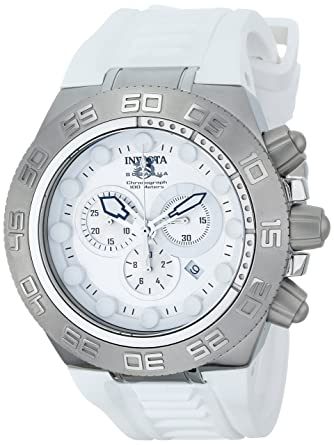 Amazon.com  Invicta Men s 1536 Subaqua Chronograph Silver Dial White ... 6f38d03258d