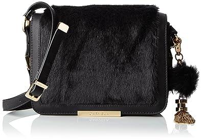 48773743ad Carvela Womens Cale X Body Fur Bag Cross-Body Bag Black  Amazon.co ...