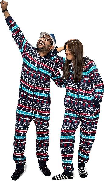 NOROZE Navidad Onesie Emparejamiento Familiar Prendas de Dormir Vacaciones Pijama de Una Pieza Regalos para Hombres, Mujeres, niños, niñas, Mono ...