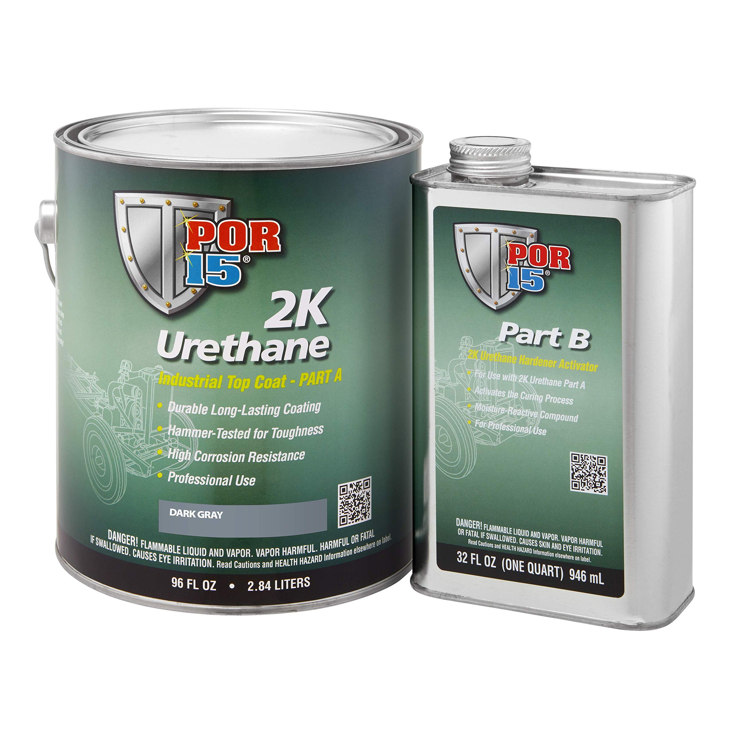 POR-15 43251 Dark Gray 2K Urethane - 1 gal