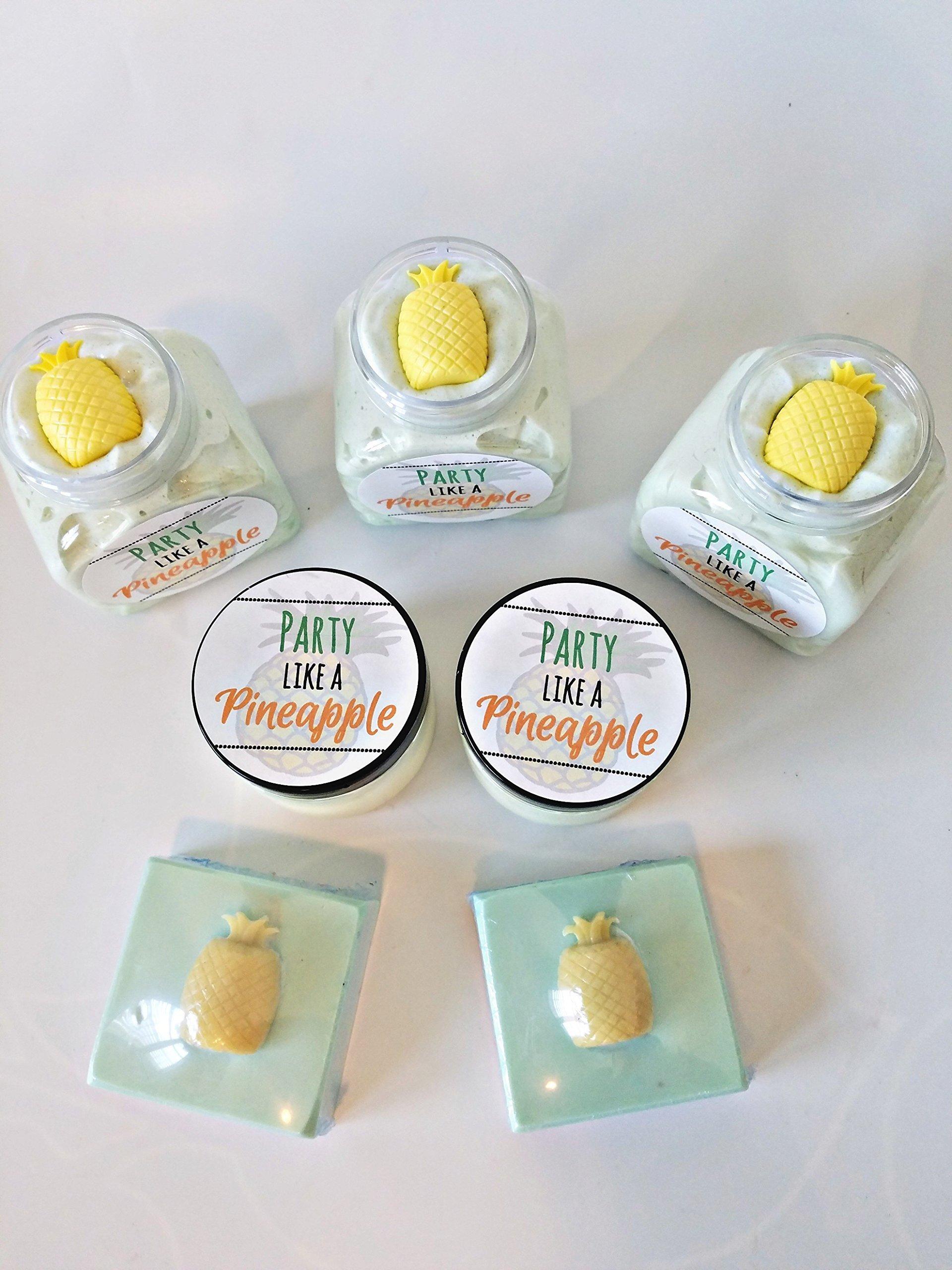 Pineapple Whipped Sugar Soap Scrub | Body Butter | Handmade Soap | Gift For Her | Gift For Mom | Tropical Gift | Pineapple | Pina Colada | Piña