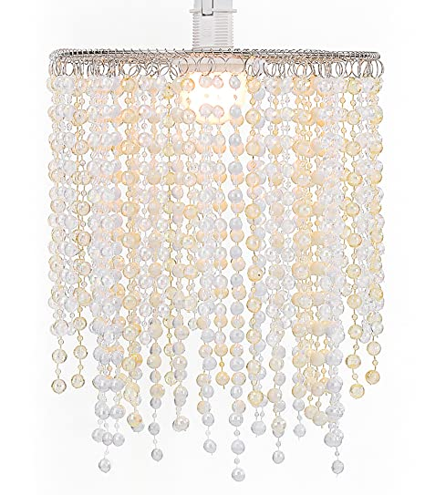 WanEway 2 Tier Ceiling Chandelier Pendant Light Shade with Beautiful ...