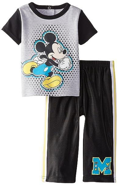 91fffc11e Amazon.com: Disney Baby Boys' Mickey Mouse 2 Piece Pant Set, Multi ...