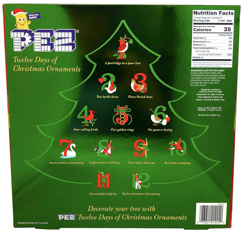 Origin Of 12 Days Of Christmas.Amazon Com Pez Candy Twelve Days Of Christmas Ornaments