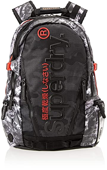 Superdry Mesh Tarp, Mens Backpack, Black (Alpine Black), 34x45x15 cm (