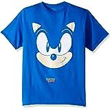 SEGA Boys Sonic The Hedgehog Big Face Short Sleeve Tshirt Short Sleeve T-Shirt - Blue