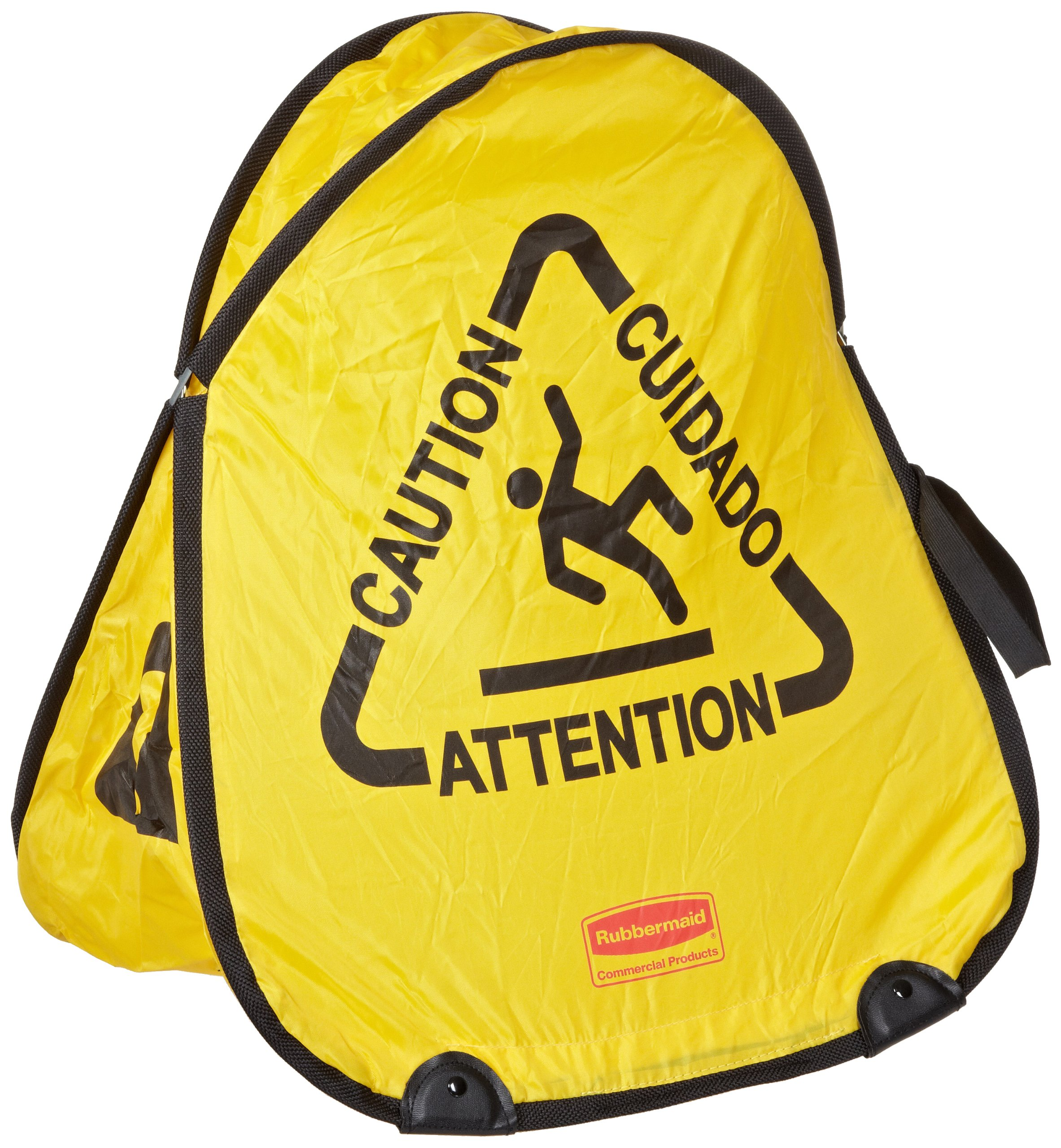 Rubbermaid Commercial 20 Inch Miltilingual ''Caution'' Folding Safety Cone, Yellow (FG9S0700YEL) by Rubbermaid Commercial Products