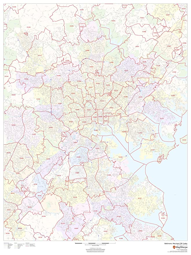 Baltimore, Maryland Zip Codes - 36