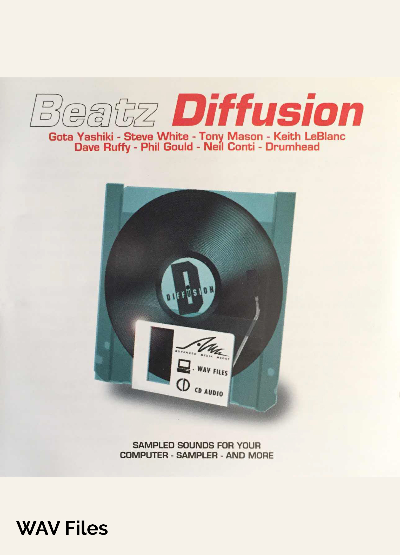 Amg Sample Cd (Beatz Diffusion - Drum Loop Library at Special Low Price - WAV Files)