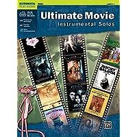 Ultimate Movie Instrumental Solos for Strings: Violin (Book & CD)