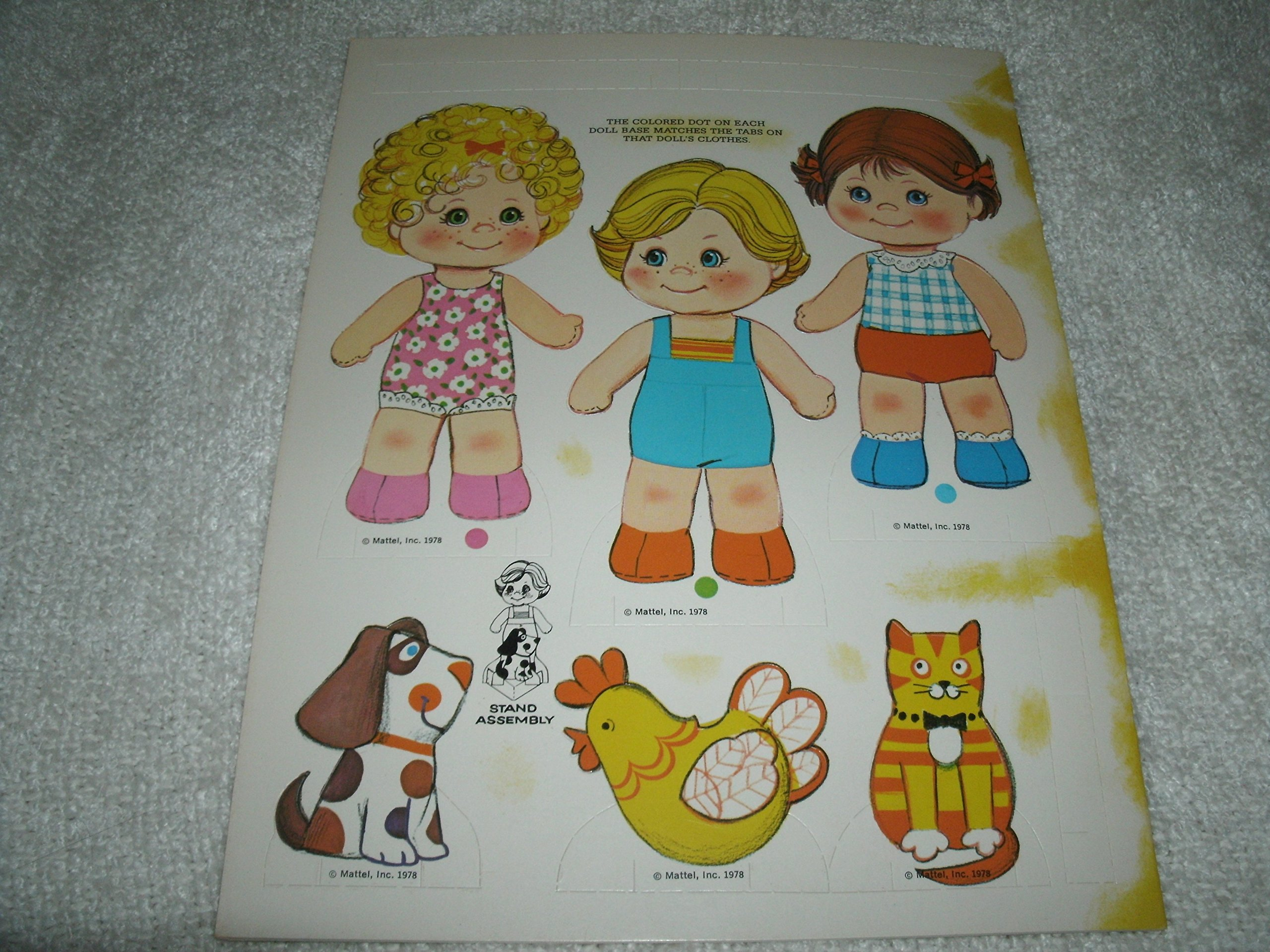 Mattel 1978 Baby BeansとペットPaper Dolls by Mattel (Image #2)
