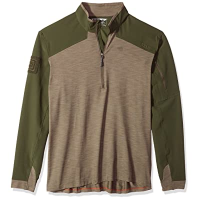 5.11 Tactical Men's Rapid Quarter Zip, Two Way Stretch Fabric, Moisture Wicking, Style 72415: Clothing