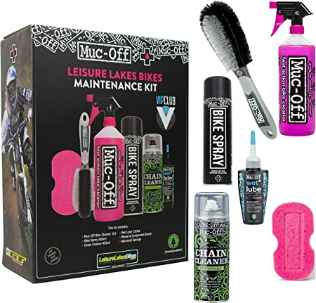 Muc-Off 3 paso Kit de limpieza para bicicleta, 6 Part Box: Amazon ...
