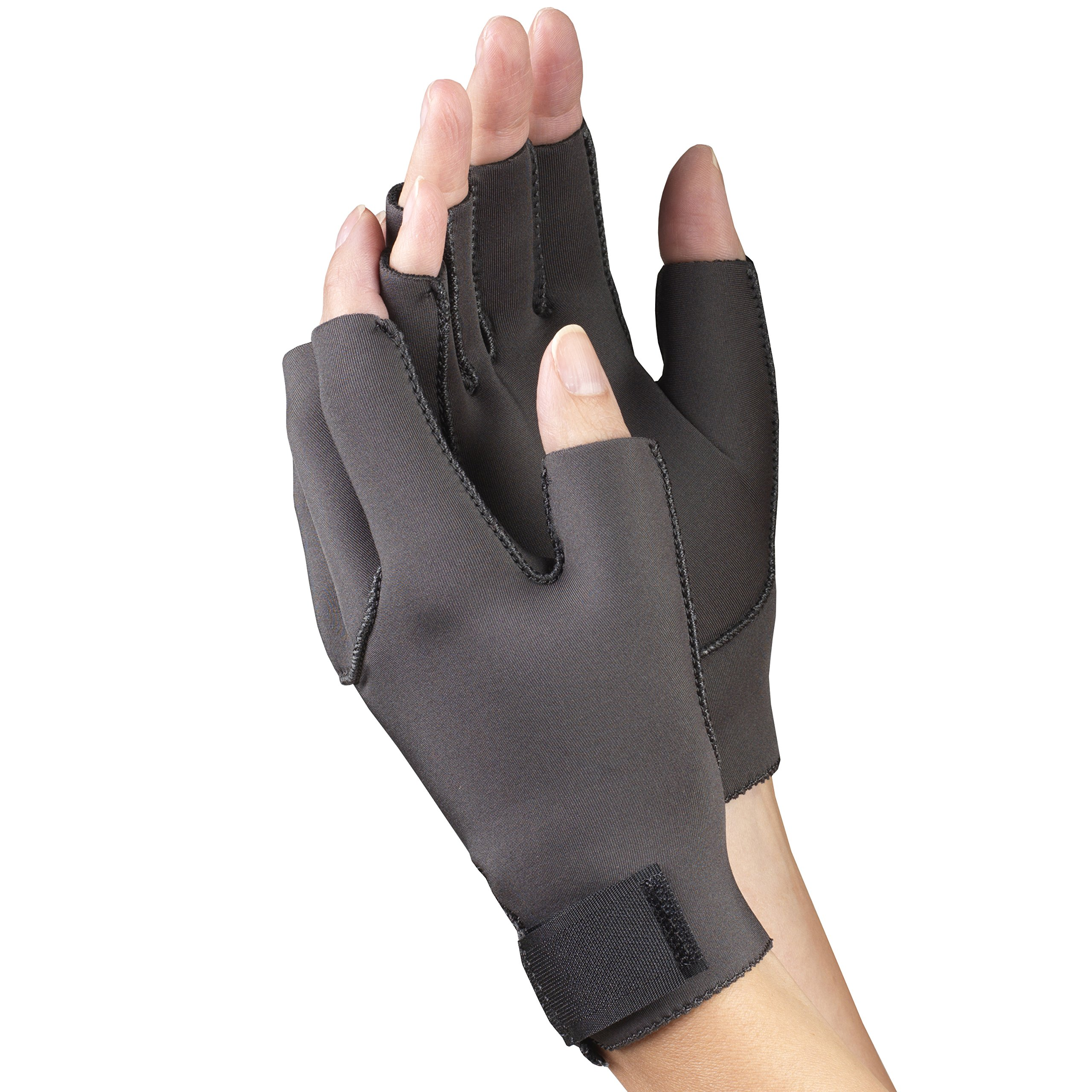OTC Premium Support Arthritis Gloves, Black, Medium