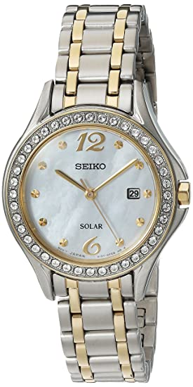 Amazon.com: Seiko Womens Quartz Stainless Steel Casual Watch, Color:Two Tone (Model: SUT312): Watches