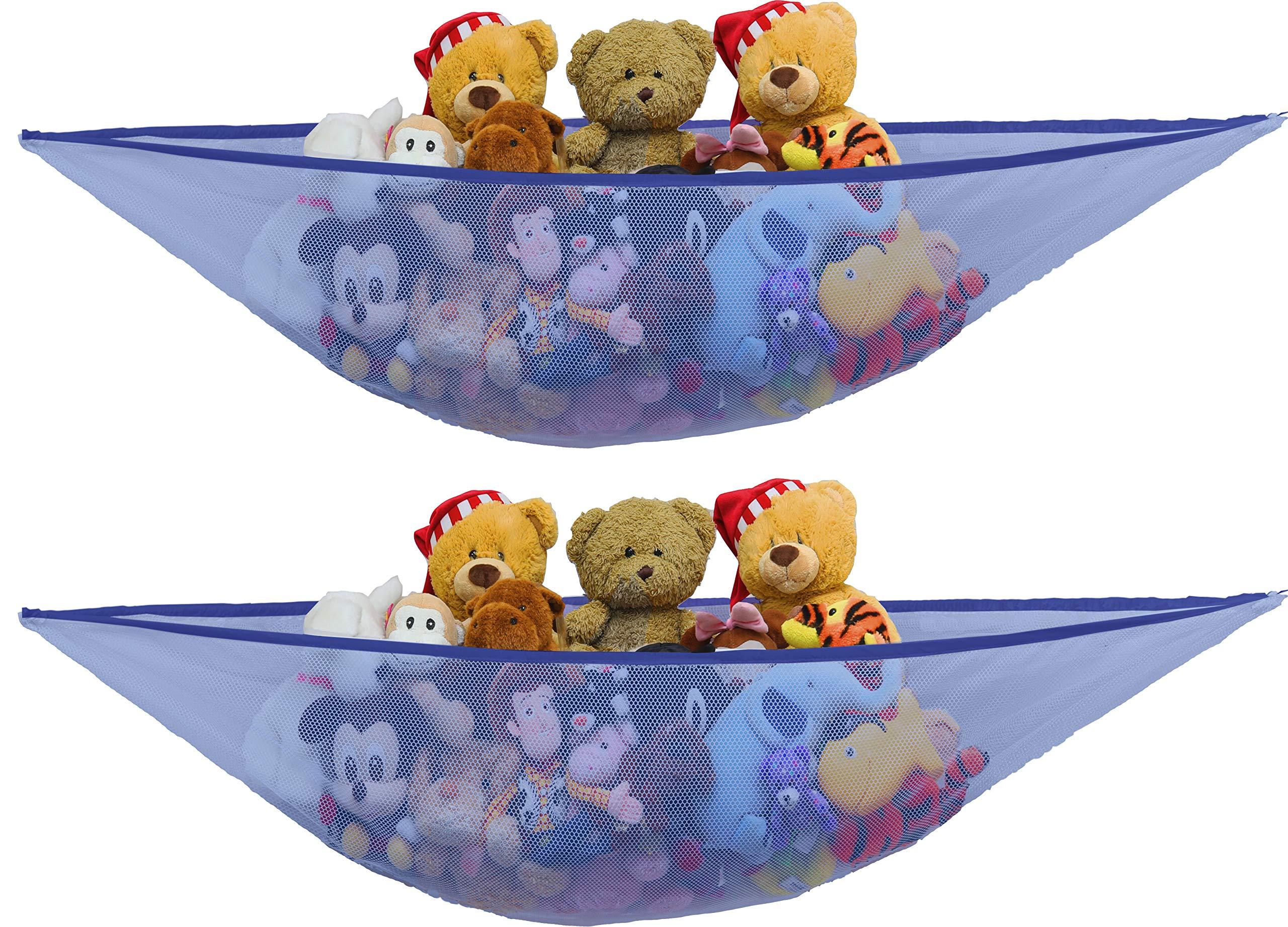 2 PK – SimpleHouseware Stuffed Animals Jumbo Toy Storage Hammock, Dark Blue
