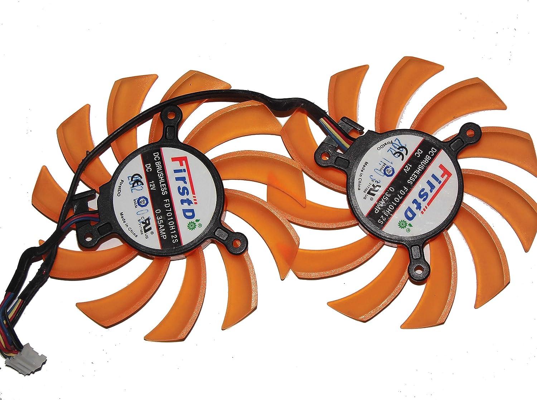 ZOTAC GTX650Ti Boost-2GD5 Video Card fan,FirstD FD7010H12S 12V 0.35A Twins Fan
