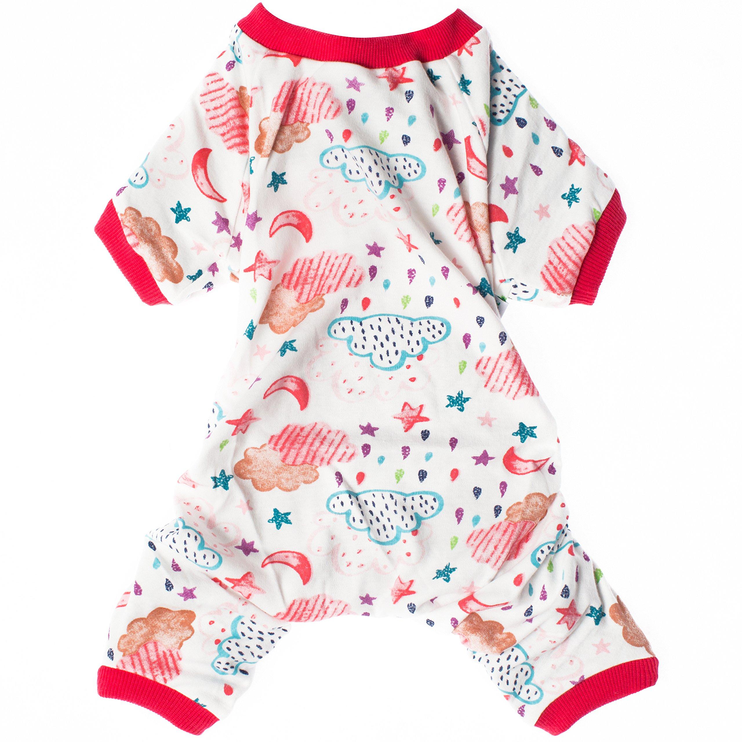 LovinPet Dog Shirt Raining Dog Apparel Dog Jumpsuit Pet Clothes Pajamas,Red,XL (Please Read Description)