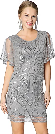 Womens Silver Sparkly Sequin Long Sleeve Short Party Dress UK Sizes 6 8 10 12 14