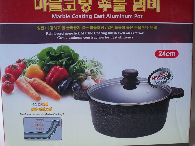 Ceramic Marble Coated Cast Aluminium 4 qt Kitchen World COMINHKR047005 24 cm diameter Stockpot Non Stick Cookware