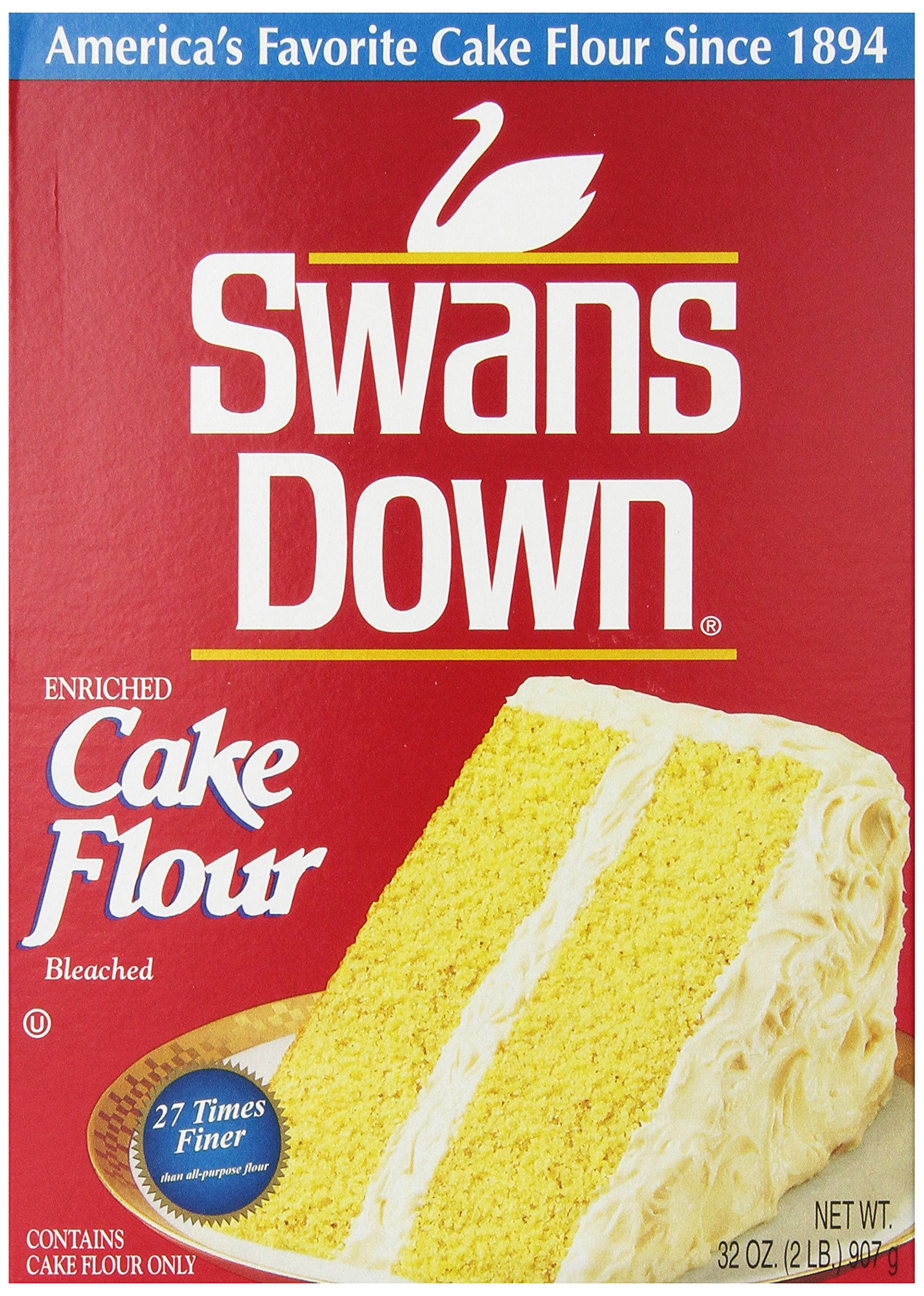Swans Down  Regular Cake Flour, 32-Ounce Boxes (Pack of 8) by Reily Foods