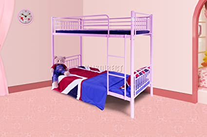 FoxHunter 91,44 cm solo marco de Metal litera doble cama sin colchón ...