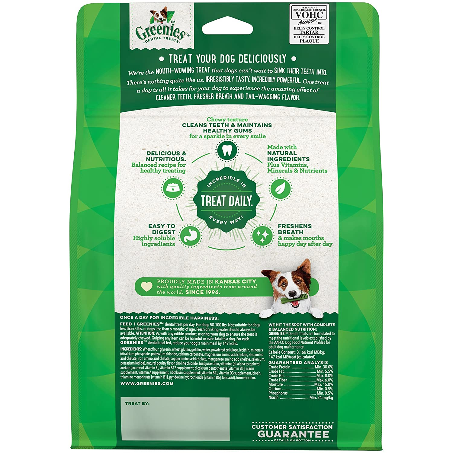 GREENIES Original Large Dog Natural Dental Treats, 18 oz.