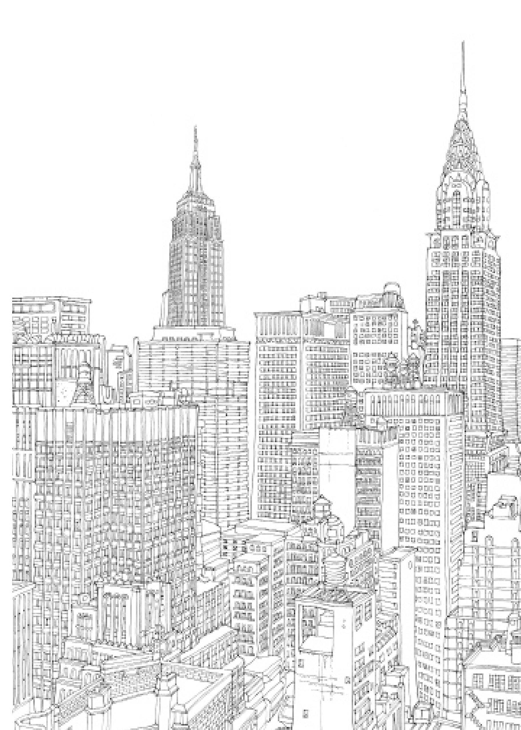 Mal Dir New York 20 Zauberhafte Stadtansichten Zum Ausmalen