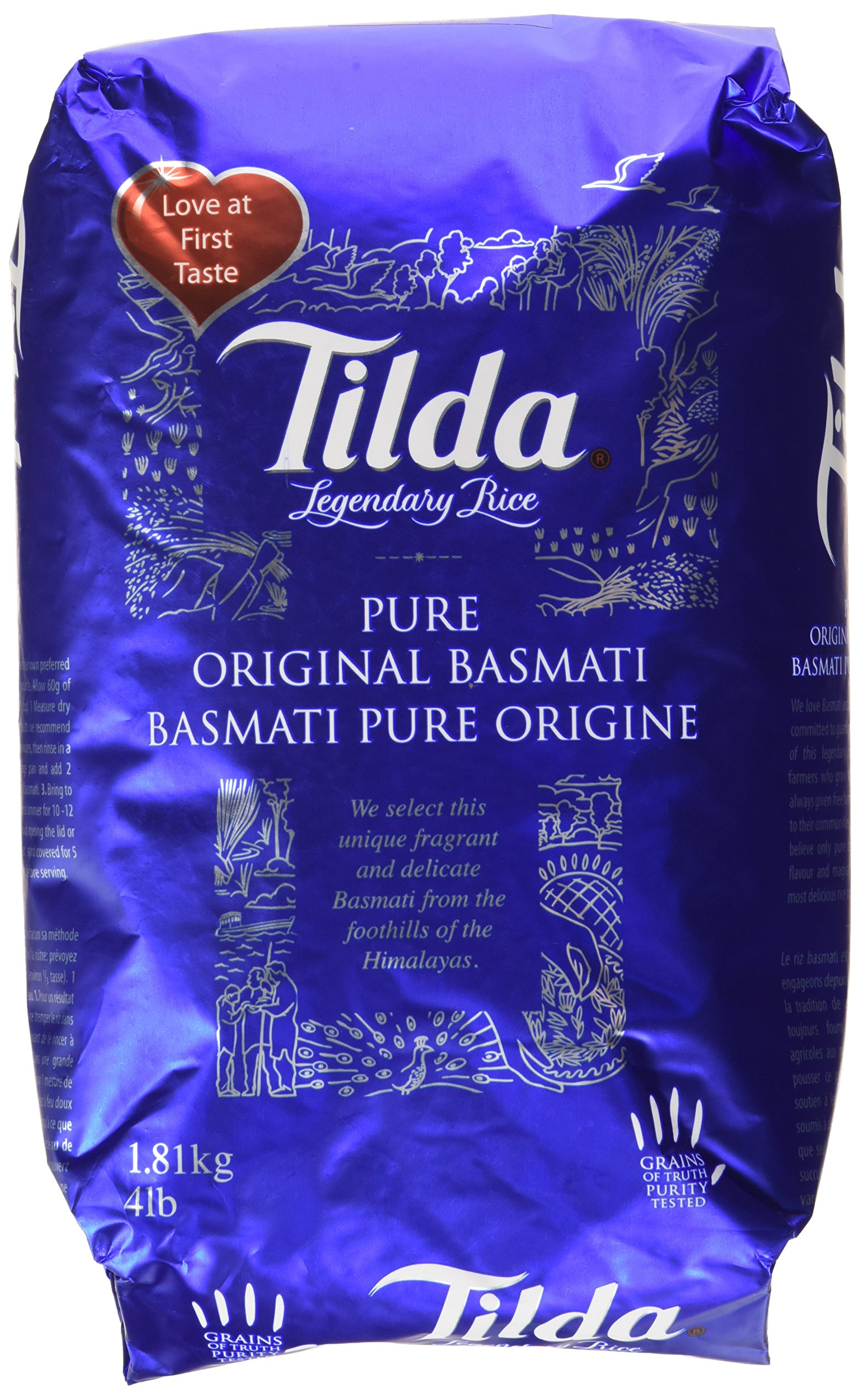 Tilda Legendary Rice, Pure Original Basmati, 4 Pound