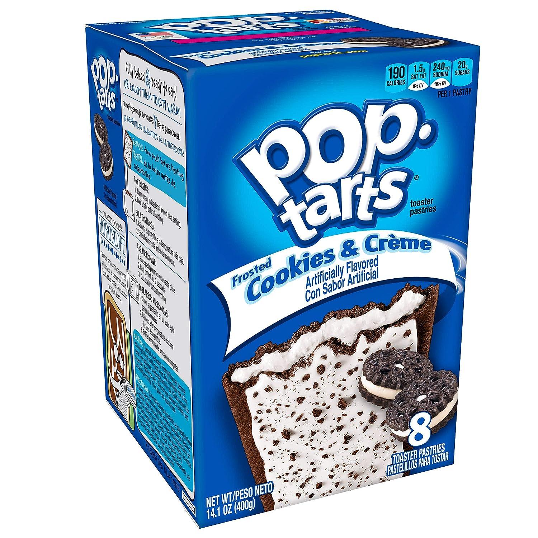 Kelloggs Pop Tarts Relleno de Cookies y Nata y Glaseado - 8 Unidades, Pack de 2: Amazon.es: Alimentación y bebidas