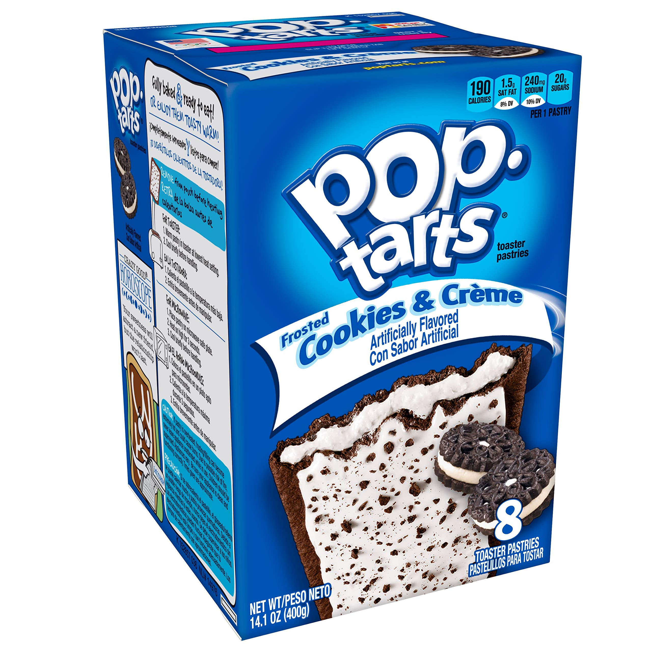 Pop-Tarts Breakfast Toaster Pastries, Frosted Cookies and Crème Flavored, Bulk Size, 96 Count (Pack of 12, 14.1 oz Boxes) by Pop-Tarts (Image #1)