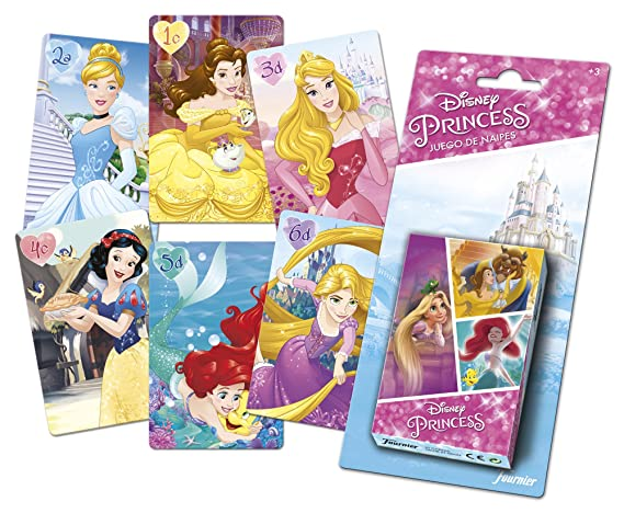 Disney- Princesas Baraja de Cartas Infantil, (Naipes Heraclio Fournier 1034800)