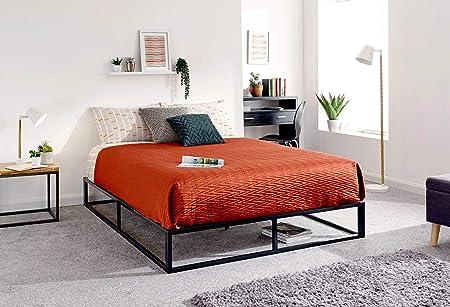 Letto Matrimoniale Piccolo.Gfw Loft Letto In Metallo Nero Urban Platform Bed Matrimoniale