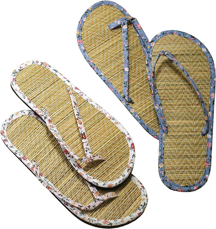 Mopec A247.1 Flip Flop Florecitas y bambú, L, 2 Surtido Pack de 2, Tela, Multicolor, Talla única, 2: Amazon.es: Hogar